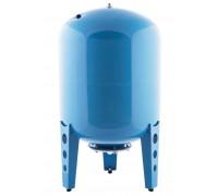 Гидроаккумулятор 100 В вертикальный (стальной фланец, синий) СТК