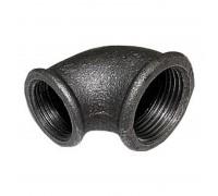 Угольник чугунный переходной 25х15 черный