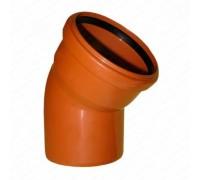 Отвод ПВХ наружн. 110х15 с кольцом
