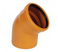 Отвод ПВХ наружн. 110х67 с кольцом