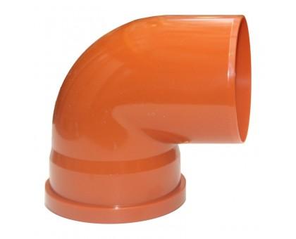 Отвод ПВХ наружн. 110x87 с кольцом