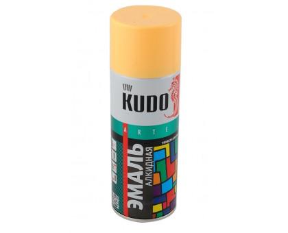 "Краска аэрозоль ""KUDO"" желтая 520мл KU-1013"
