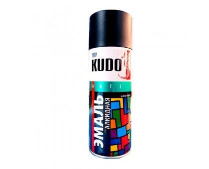 "Краска аэрозоль ""KUDO"" черная матовая 520мл KU-1102"