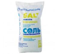 Соль таблетированная NaCl 25кг Мозырь