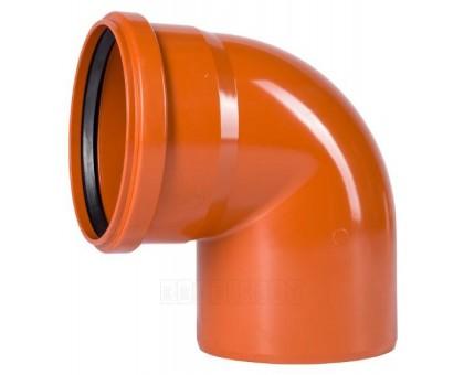 Отвод ПВХ наружн. 160х87 с кольцом