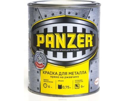 """Краска для металла """"PANZER"""" гладкая черная 0,75л RAL9005"""