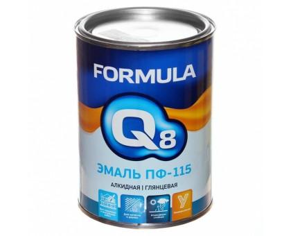 """Эмаль ПФ-115 белая 0,9кг """"FORMULA Q8"""""""