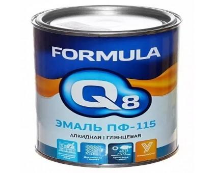 """Эмаль ПФ-115 зеленая 1,9кг """"FORMULA Q8"""""""