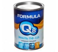 """Эмаль ПФ-115 черная 0,9кг """"FORMULA Q8"""""""