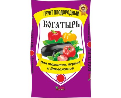 Почвогрунт БОГАТЫРЬ для томатов универсальный 10л