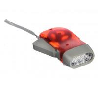 Фонарь РУССО ТУРИСТО 3 LED электродинамический 9,5х5см 122718
