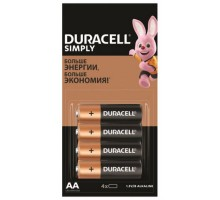 Батарейка DURACELL LR6 4BP SIMPLY