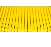 """Поликарбонат """"GRADAPLAST"""" желтый 8мм 2100 x 6000мм"""
