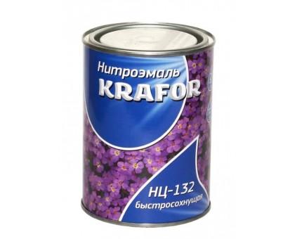 """Эмаль НЦ-132 0,7кг черная """"KRAFOR"""" купить"""
