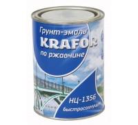 """Грунт-эмаль НЦ-1356 по ржавчине 0,7кг голубая """"KRAFOR"""""""