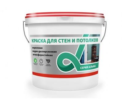"""Краска в/д """"Альфа"""" для стен и потолков 6,5кг"""