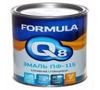 """Эмаль ПФ-115 ярко-зеленая 1,9кг """"FORMULA Q8"""""""