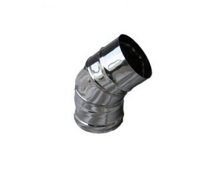 Колено d-110мм 2-х секц. черная сталь (0,5) 45 градусов