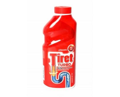 Чистящее средство для труб TIRET Turbo 1,0л гель для устранения сложных засоров