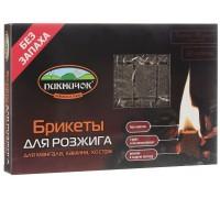 Брикет древеснопарафиновый для розжига 32шт ПИКНИЧОК 401-032