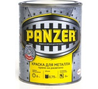 """Краска для металла """"PANZER"""" молотковая зеленая 0,75л"""