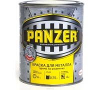 """Краска для металла """"PANZER"""" молотковая коричневая 0,75л"""