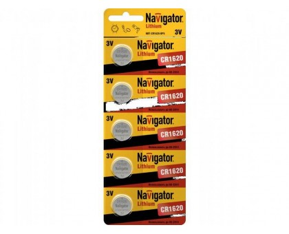 Батарейка NAVIGATOR BP5 1620